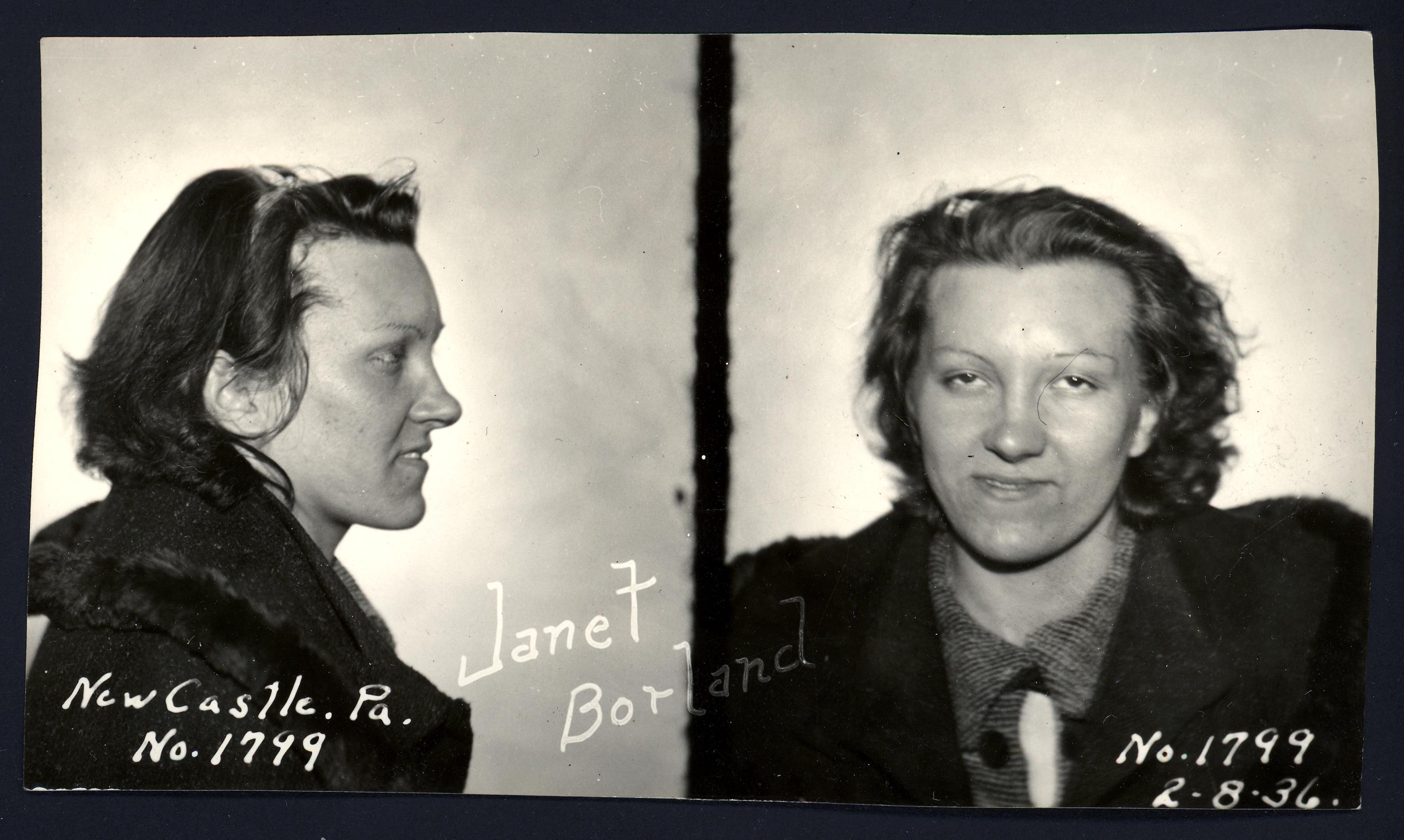 "Janet Borland, ""Auto Theft"", 8 Feb 1936"