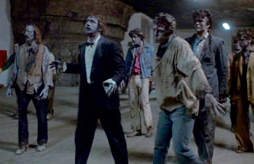 zombies in the tunnels